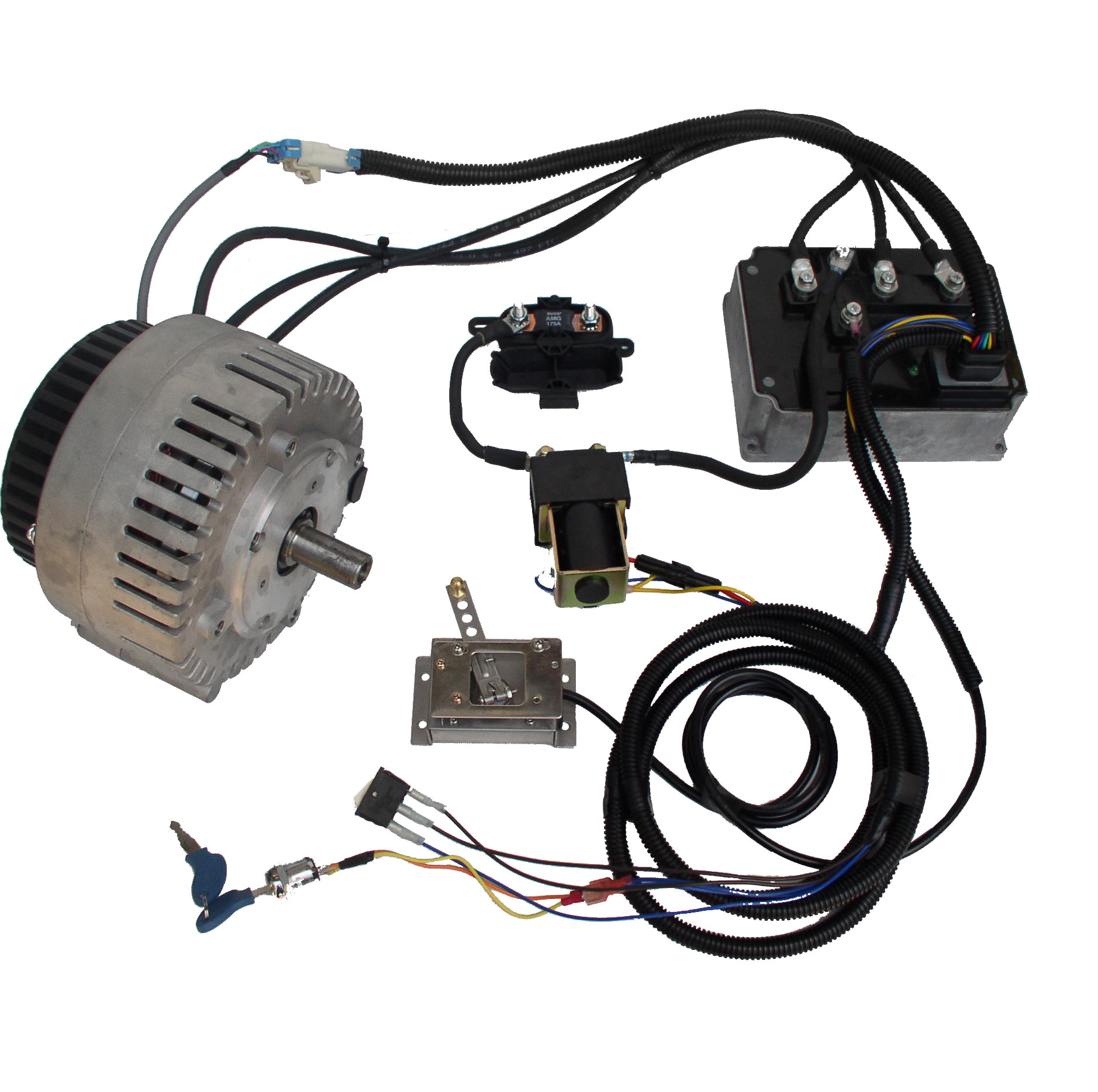Mars Brushless Pmac Motor With 72v 350a Controller Kit