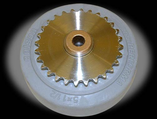 5-inch Drive Wheel with 28-Tooth Sprocket
