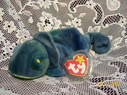 4db74f694cb Ty - Ty Beanie Baby - Rainbow the Chameleon - Blue  TY4037b
