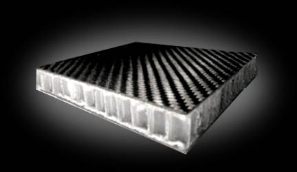 Double 0 032in Sandwich Polypropylene Honeycomb Carbon